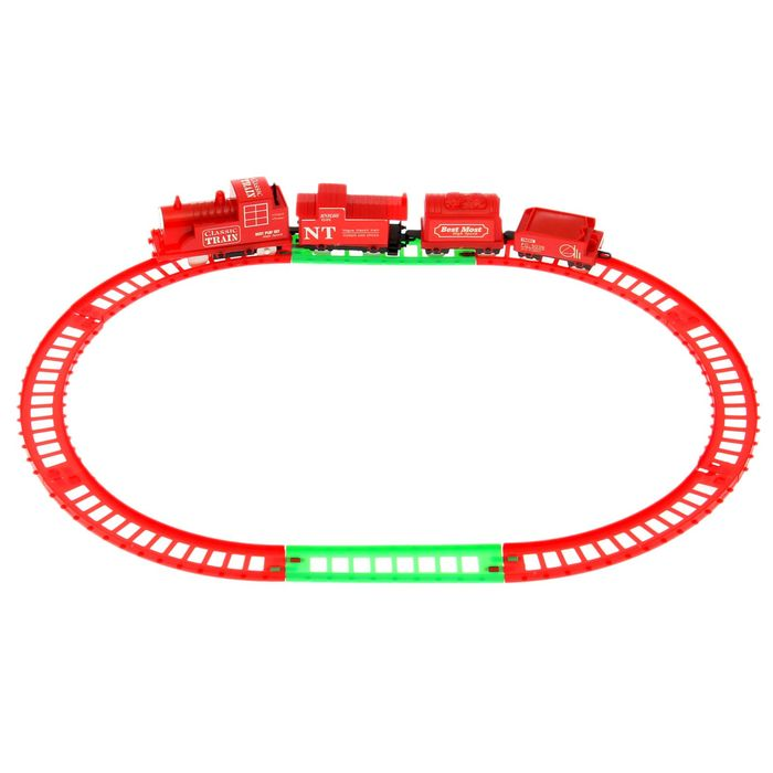 """Железная дорога """"Классик"""", протяжённость пути 1,14 м, цвета: МИКС"""