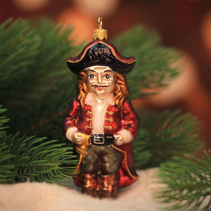 """Ёлочная игрушка """"Весёлый пират"""", бордо"""