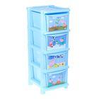 """Комод для игрушек """"Свинка Пеппа"""", 4 выдвижных ящика, цвет голубой"""