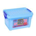 """Детский ящик для хранения мелочей """"Свинка Пеппа"""" 5,1 л, цвет голубой"""