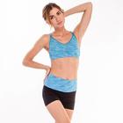 Топ женский спортивный арт.11120C цвет голубое мулине, р-р 40-42 (S)