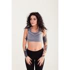 Топ женский спортивный арт.11140 цвет серый меланж, р-р 40-42 (S)