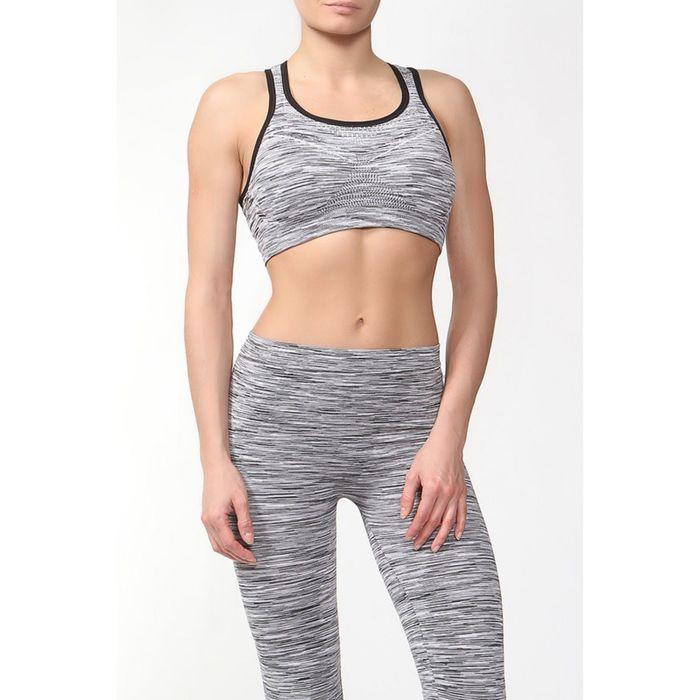 Топ женский спортивный арт.11140С цвет серое мулине, р-р 44-46 (M)
