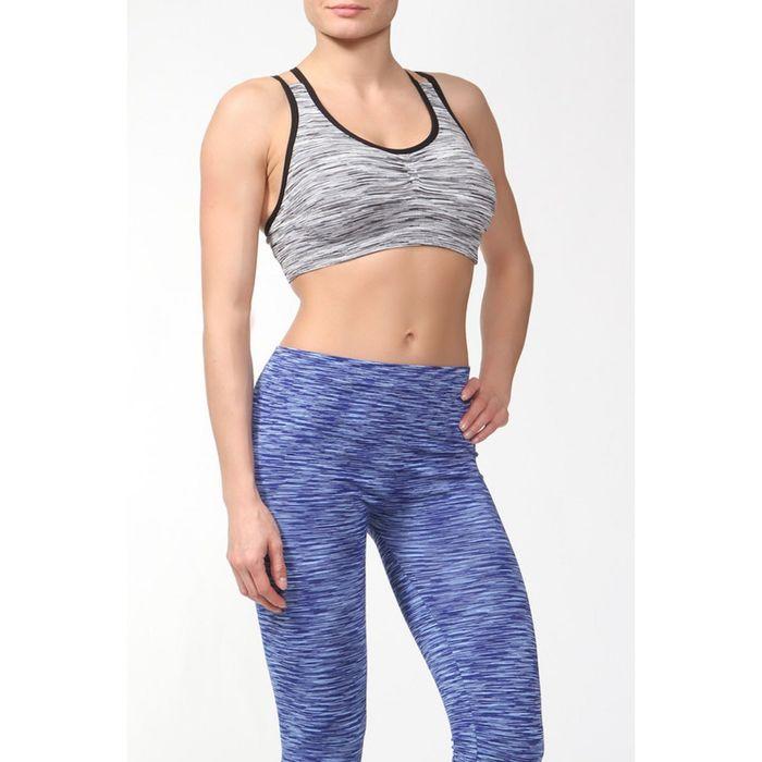 Топ женский спортивный арт.11165С цвет серое мулине, р-р 44-46 (M)