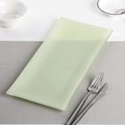 "Блюдо 32,5х15х1,5 см ""Пастель"", цвет зелёный"