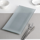 """Блюдо 32,5х15х1,5 см """"Пастель"""", цвет серый"""