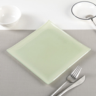 """Тарелка 20х1,5 см """"Пастель"""", цвет зеленый"""