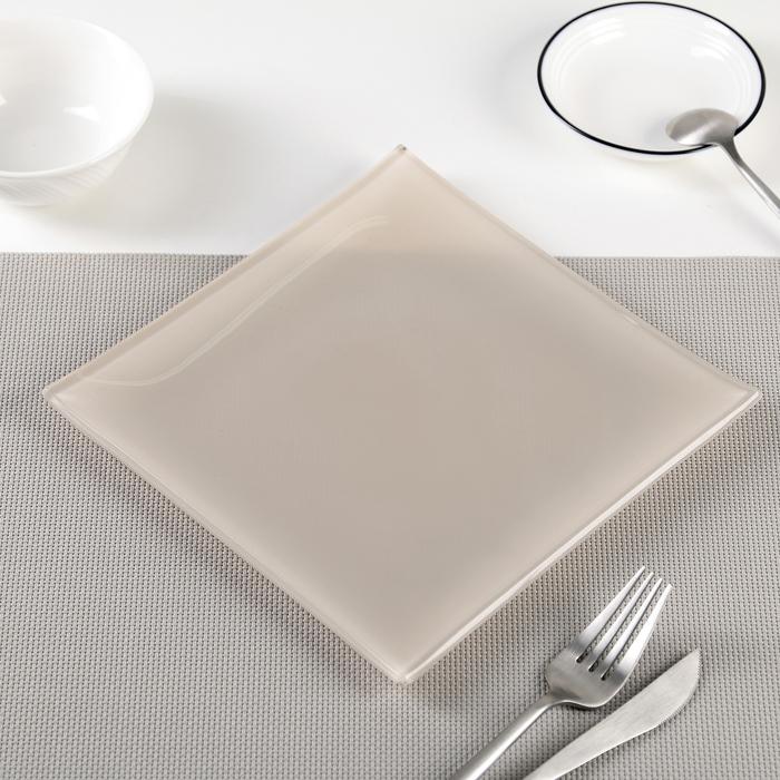 """Тарелка 20х1,5 см """"Пастель"""", цвет бежевый"""