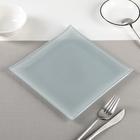 "Тарелка 20х1,5 см ""Пастель"", цвет серый"