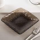 """Тарелка 16,5 см """"Цепь"""", цвет серо-коричневый"""