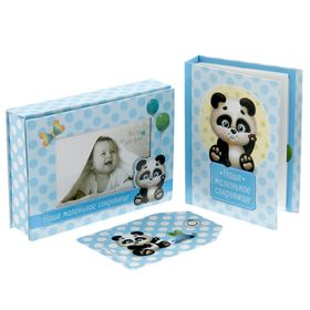 """Photo album for 36 photo gift box with photo frame on the cover of """"the Kid"""""""
