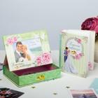 """Фотоальбом на 36 фото в подарочной коробке с фоторамкой на крышке """"Свадьба"""""""