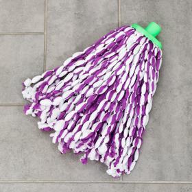 Насадка для швабры веревочная, микрофибра 100 гр цвет МИКС