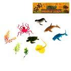 Набор животных «Морские обитатели», 6 животных, аксессуары