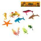 Набор животных «Морское царство», 6 животных, аксессуары