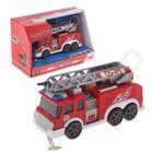 Пожарная машина, с водой, свет, звук, 15 см