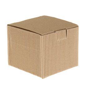 Коробка крафт из рифлёного картона, 11 х 11 х 9,5 см Ош