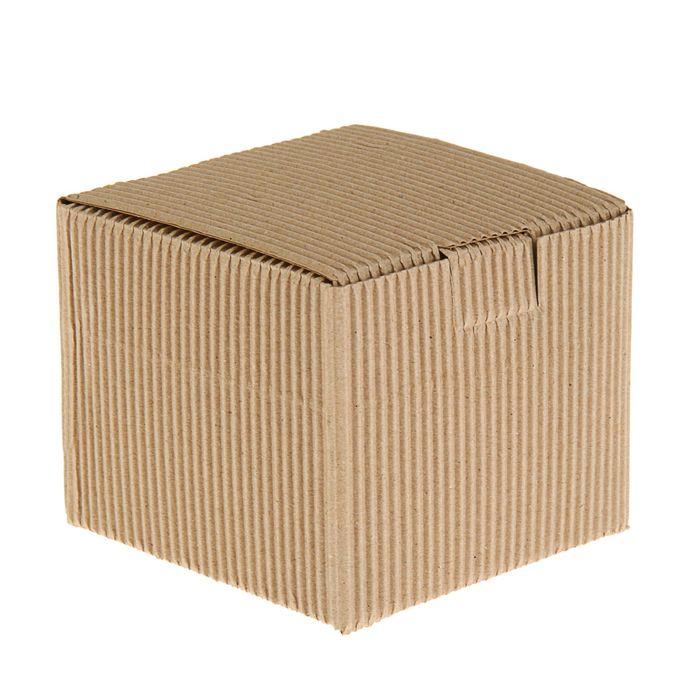 Коробка крафт из рифлёного картона, 11 х 11 х 9,5 см