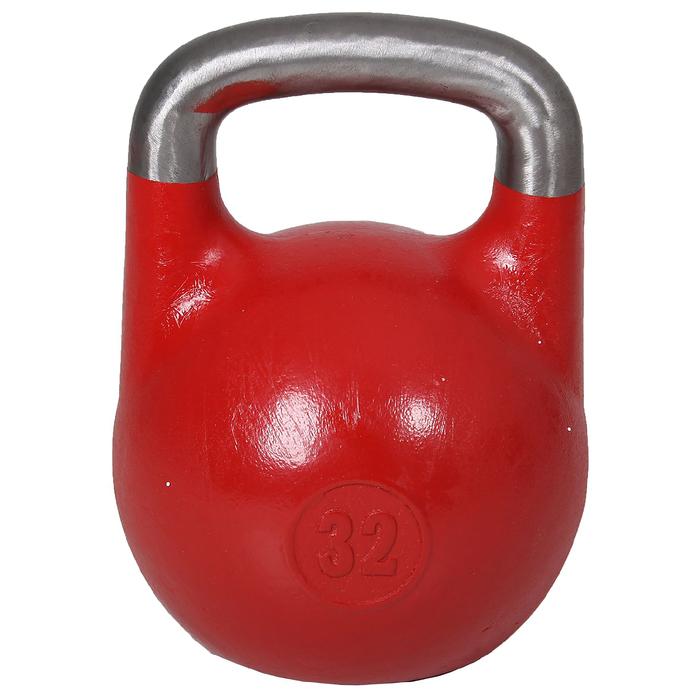 Гиря 32 кг для соревнований (ВФГС) красная, ГСК/16