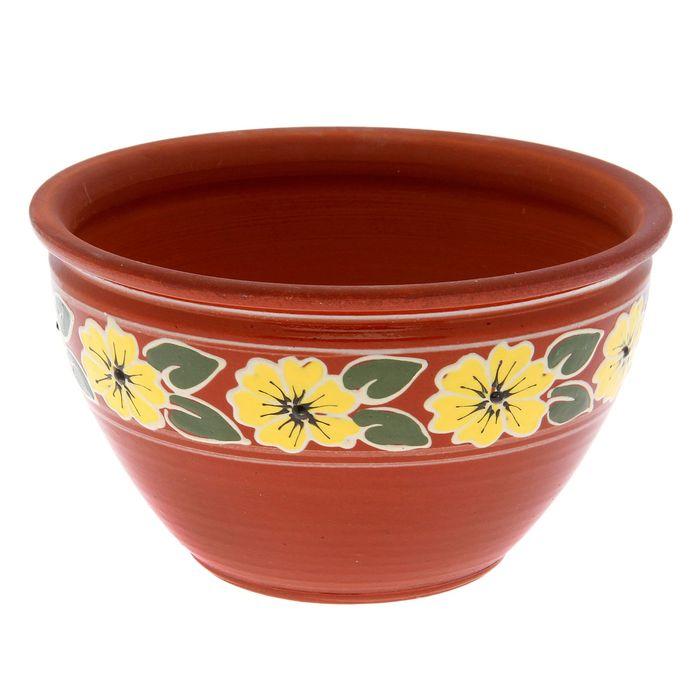 """Блюдо глубокое """"Жёлтый цветок"""" 3 л"""
