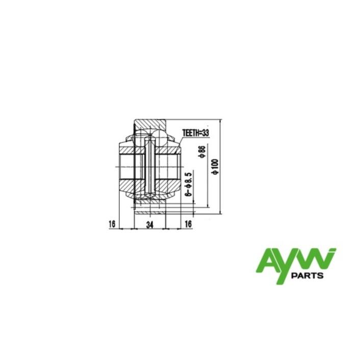 ШРУС внутренний AYWIPARTS AW1520016