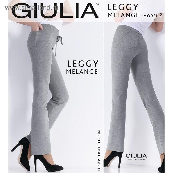 Легинсы женские LEGGY MELANGE 02 цвет чёрный (black), размер S