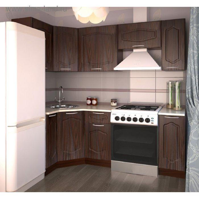 Кухонный гарнитур Дуб Шоколадный 1100х2150