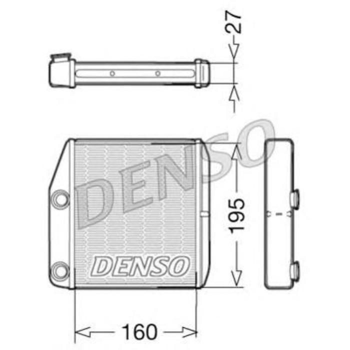 Радиатор отопителя Denso DRR09075
