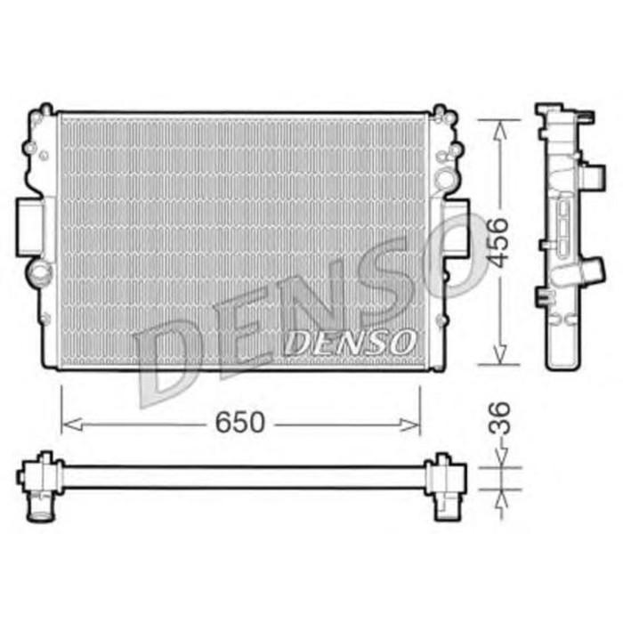 Радиатор охлаждения двигателя Denso DRM12007