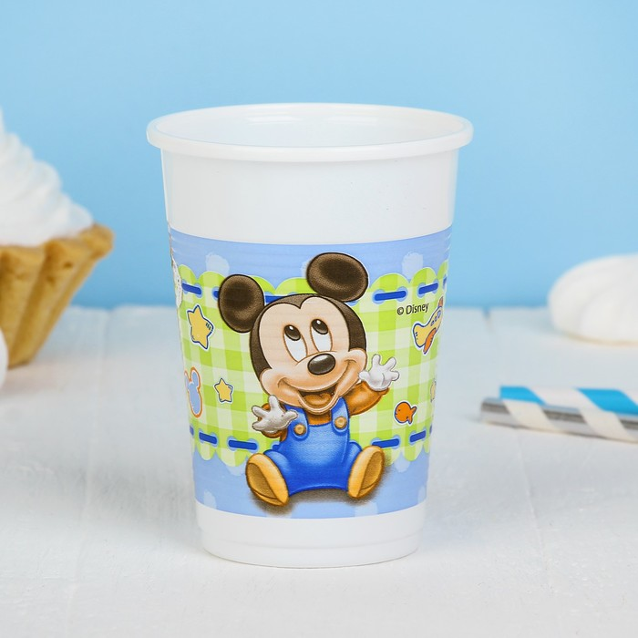 "Стаканы пластиковые ""Малыш Микки"", 200 мл, набор 8 шт., Baby Mickey"