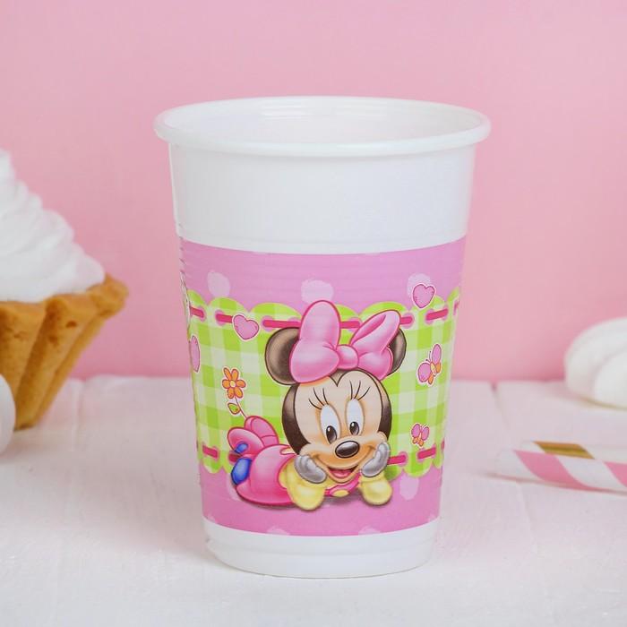"Стаканы пластиковые ""Малышка Минни"", 200 мл, набор 8 шт., Baby Minnie"