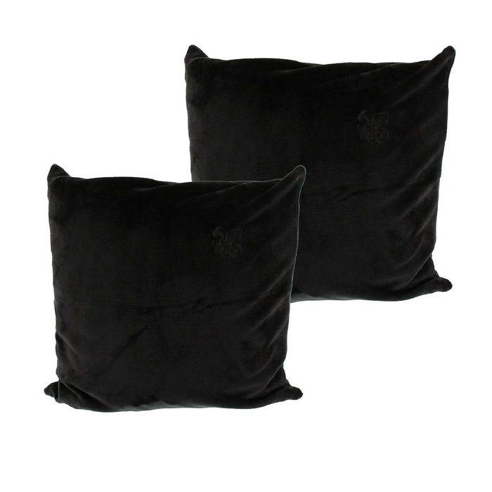 """Подушка декоративная """"FLEUR-DE-LYS"""", размер 50х50, цвет чёрный ПГ-09003"""
