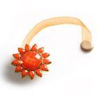 """Подхват для штор на ленте """"Солнышко"""", d=5см, цвет оранжевый"""