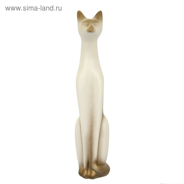 """Сувенир """"Кошка Египетская"""" белая, золото"""