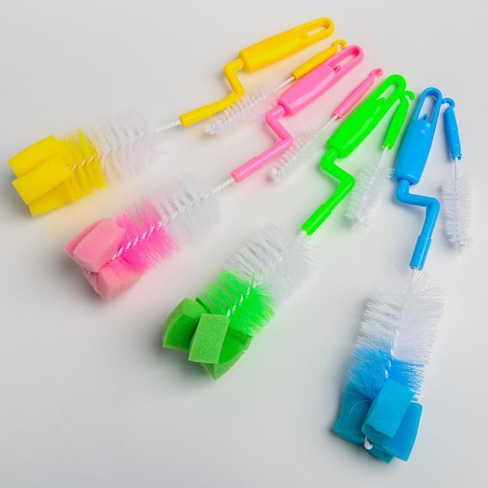 Набор ёршиков для бутылочек и сосок, 2 предмета, цвета МИКС