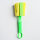 Ёршик-губка для бутылочек и детской посуды, цвета МИКС