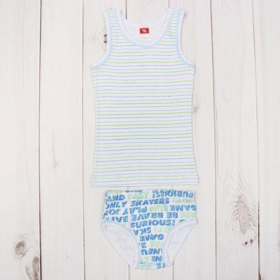 Комплект для мальчика (майка, трусы), рост 92 см (52), цвет синий