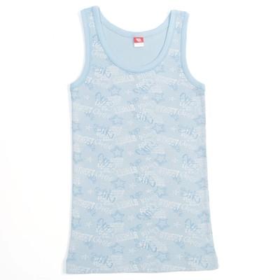 Майка для мальчика, рост 140 см, цвет голубой