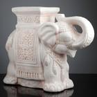 "Фигура - подставка ""Слон"" бежевый 21х54х43см - фото 168698884"