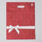"""Пакет """"Горох подарочный"""", полиэтиленовый с вырубной ручкой, 31 х 40 см, 60 мкм - фото 308983582"""