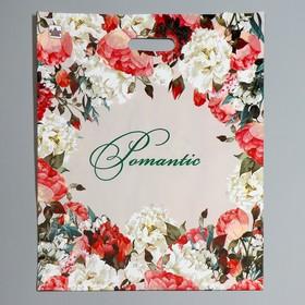 """Пакет """"Благородные цветы"""", полиэтиленовый с вырубной ручкой, 38 х 45 см, 60 мкм"""