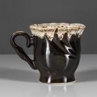 """Чашка чайная """"Орфей"""" коричневая пена, 0,2 л"""