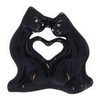 """Копилка """"Котики с сердцем"""" мини, глазурь, чёрная"""