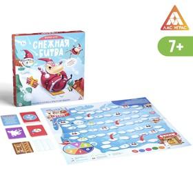 Настольная веселая игра «Снежная битва»