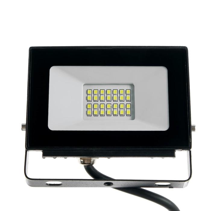 Прожектор светодиодный LLT СДО-5, 20 Вт, 160-260 В, 6500 К, 1500 Лм, IP65 - фото 4717