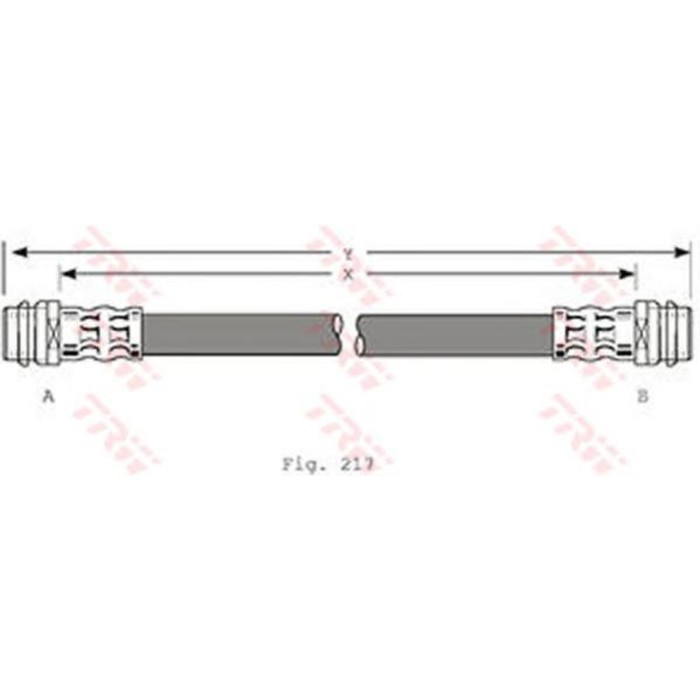 Шланг тормозной TRW PHA341
