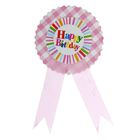 "The icon ""happy birthday"" stripes, pink color"
