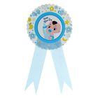 Значок «С Днём рождения», ребенок, голубой цвет