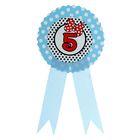 Значок «5», бантик, голубой цвет
