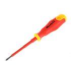 """Отвертка """"СИБРТЕХ"""", диэлектрическая, PH0 75 мм, до 1000 В, двухкомпонентная рукоятка"""